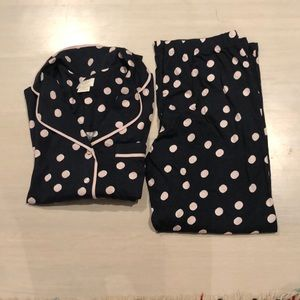 Kate Spade Dream a Little Dream polka dot PJ set